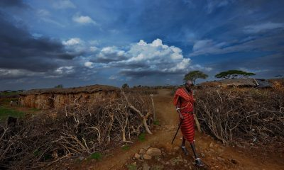 african art, african wall art, photographer paul van schalkwyk Maasai Village