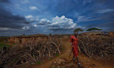 african art, african wall art, photographer paul van schalkwyk Maasai Village