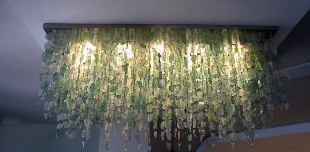 Unique Recycled Glass Chandelier 6