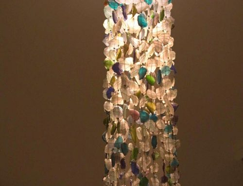 Recycled Glass Chandelier│Tube Shape