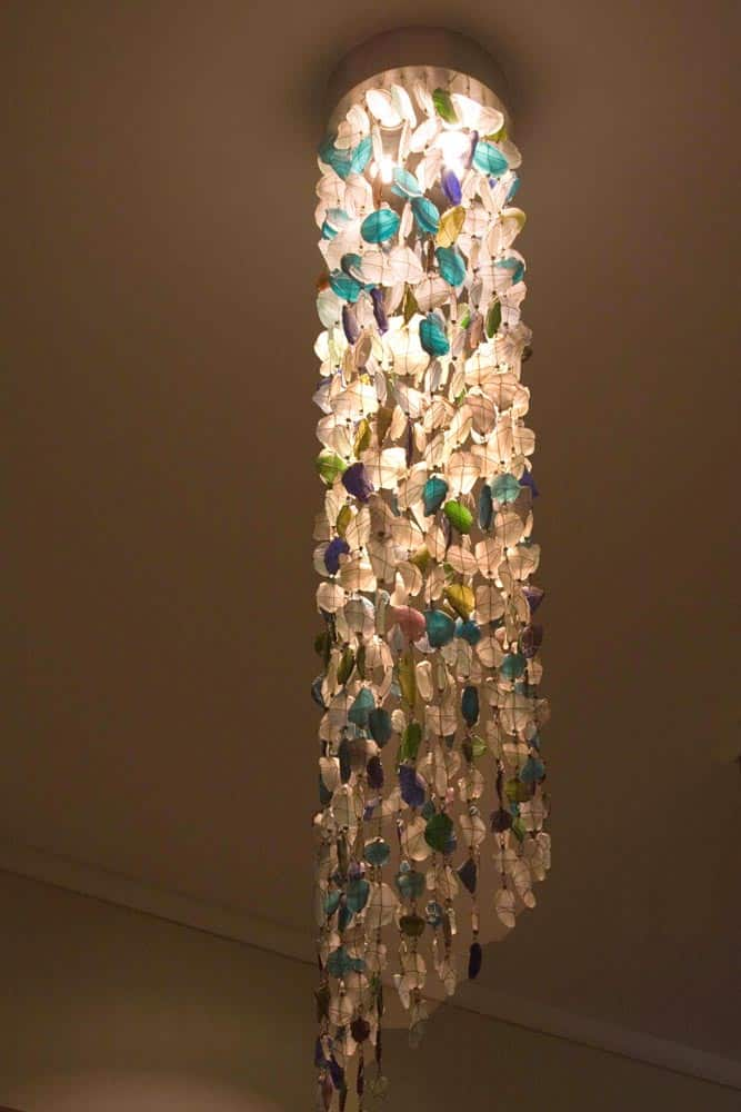 Recycled Glass Chandelier│Tube Shape 1