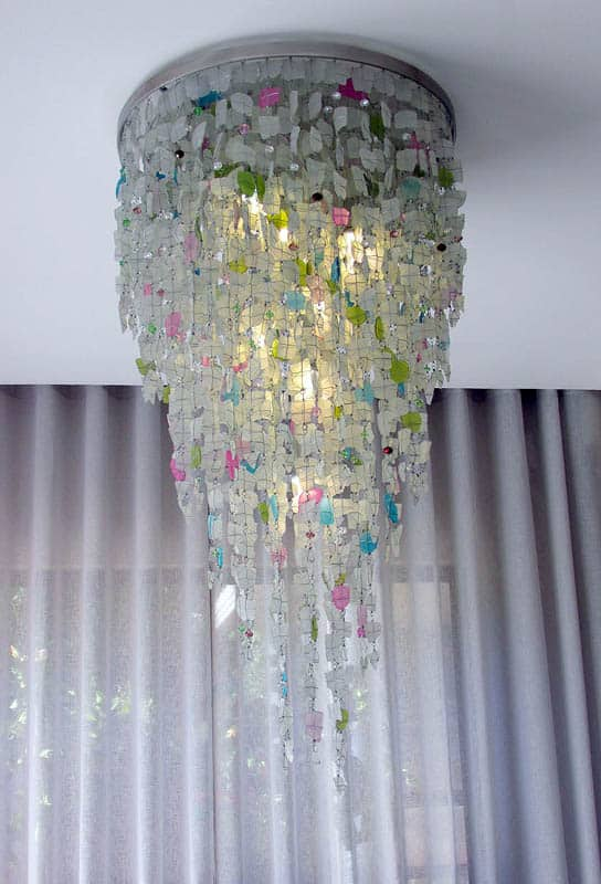 Ceiling Light Fixture│Recycled Glass 7
