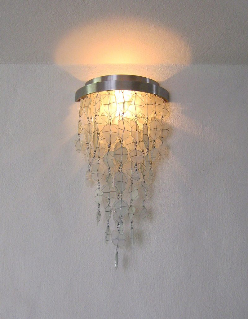Lighting and Fixtures│Recycled Glass Wall Sconce