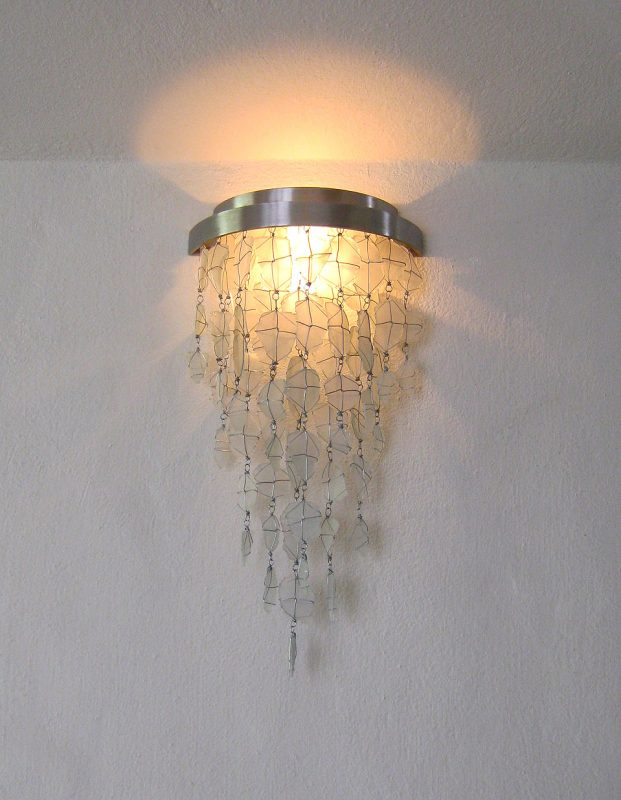 Ligting and Fixtures│Recycled Glass Wall Sconse