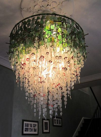 Ceiling Light Fixture│Recycled Glass 1