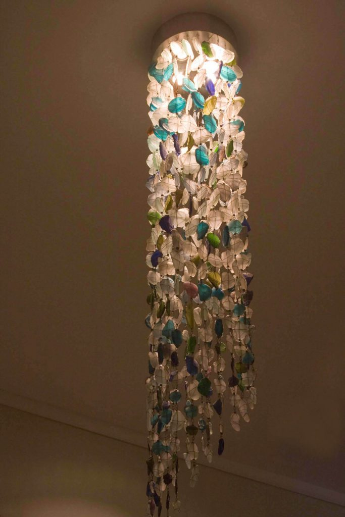 Recycled Glass Chandelier│Tube Shape 6