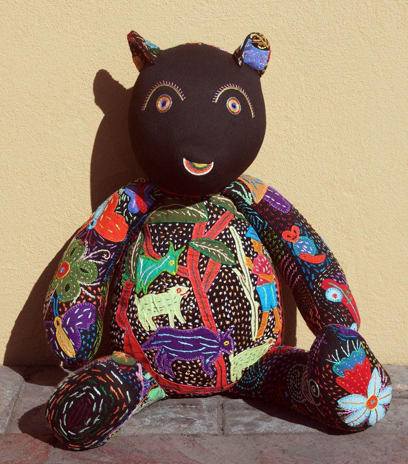 stuffed childrens toys teddy bear, black teddy bear, white teddy bear, embroidered kids toys, kids stuffed animals