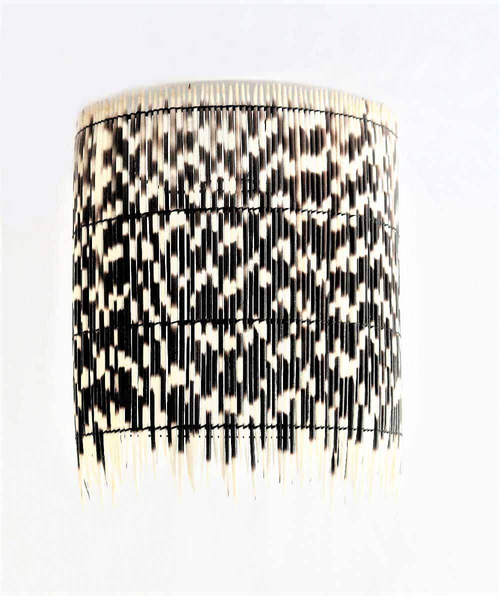 Wall Sconce Porcupine Quill Shade 7
