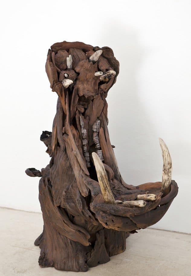 Hippo Driftwood Sculpture 6