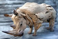 Rhino Sculpture│Driftwood Art 2