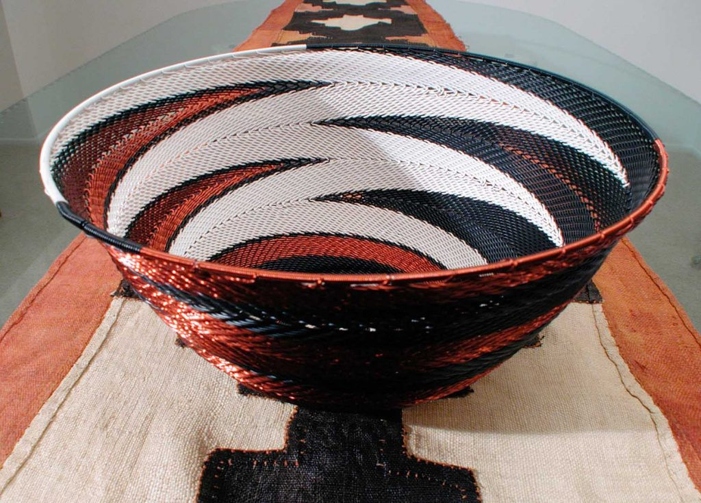 Hand Woven Zulu Telephone Wire Baskets 6
