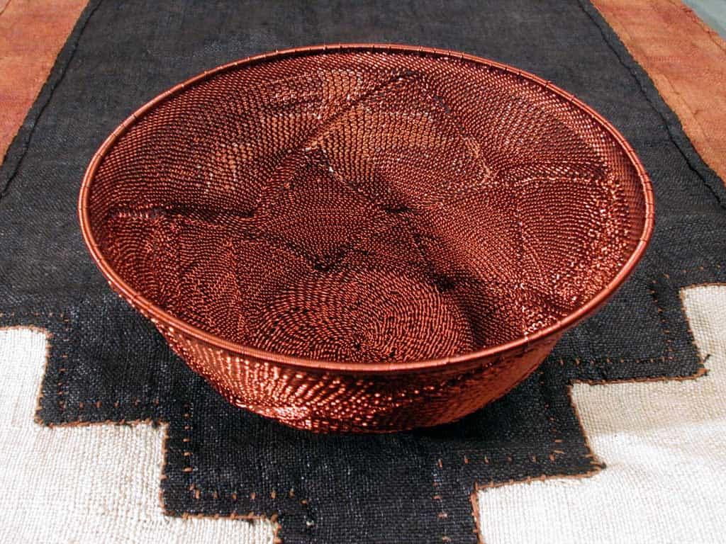 Hand Woven Zulu Telephone Wire Baskets 7