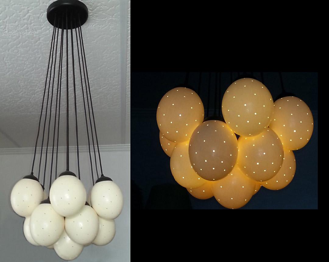 Ostrich eggshell globes│interior lighting fixtures view larger image ostrich eggshell chandelier