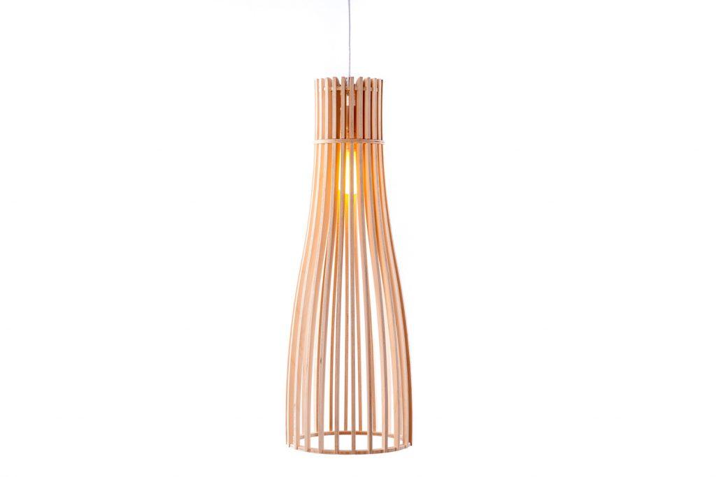 Wooden Pendant Light│Flute 210 6
