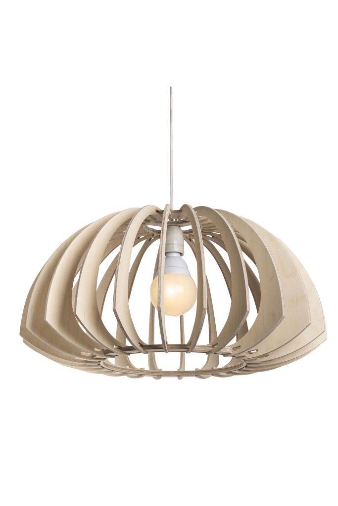 Wood Pendant Light Fixture│Cusp 300 6