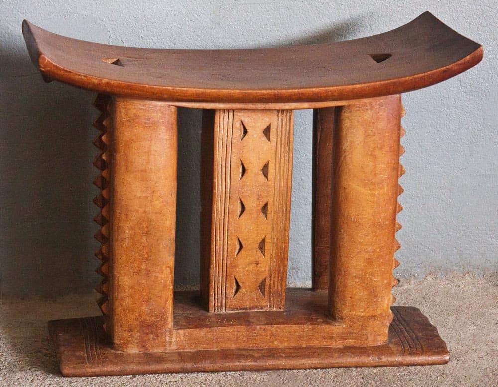 African Ashanti Vintage Wooden Stools 6