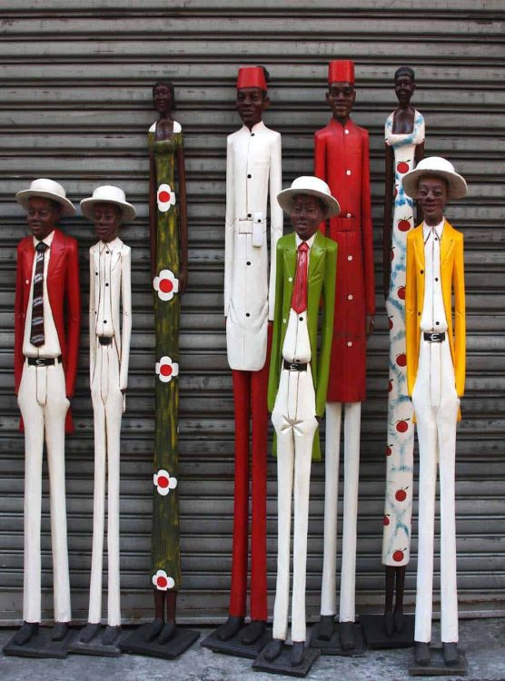 Colonial Figures │Hand-carved wood figures