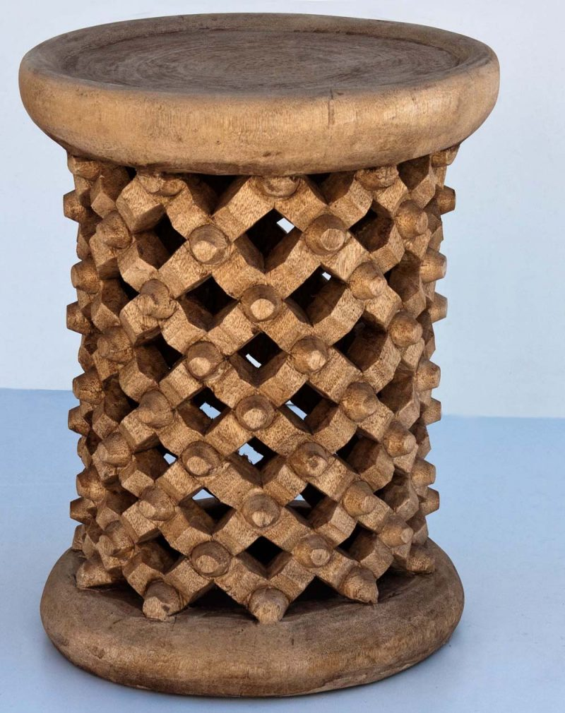 African Decor Bamileke Stool
