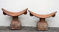 African Wood Headrests 1