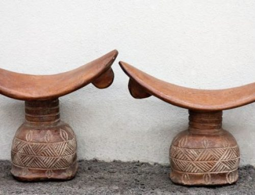African Wood Headrests