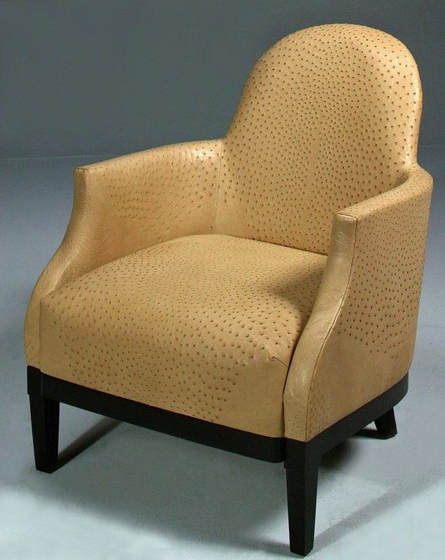 Genuine Ostrich Skin Library Chair