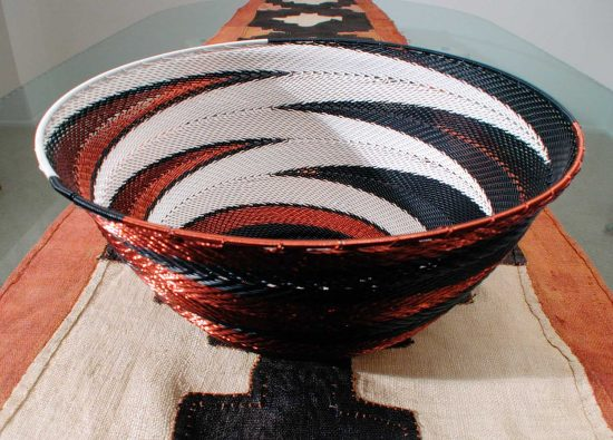 Hand Woven Zulu Telephone Wire Baskets 4