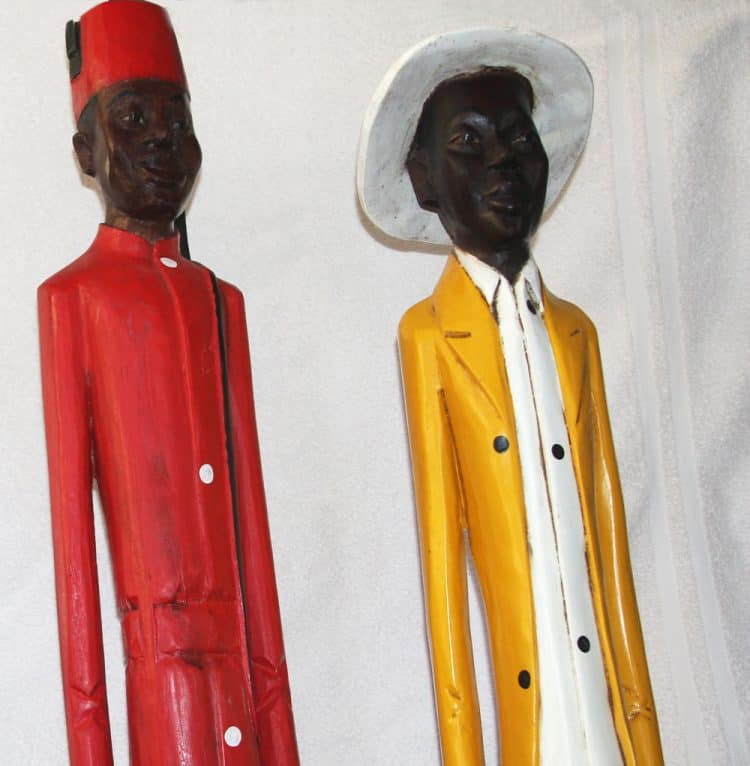 African Decor│Colonial Wood Figures 6