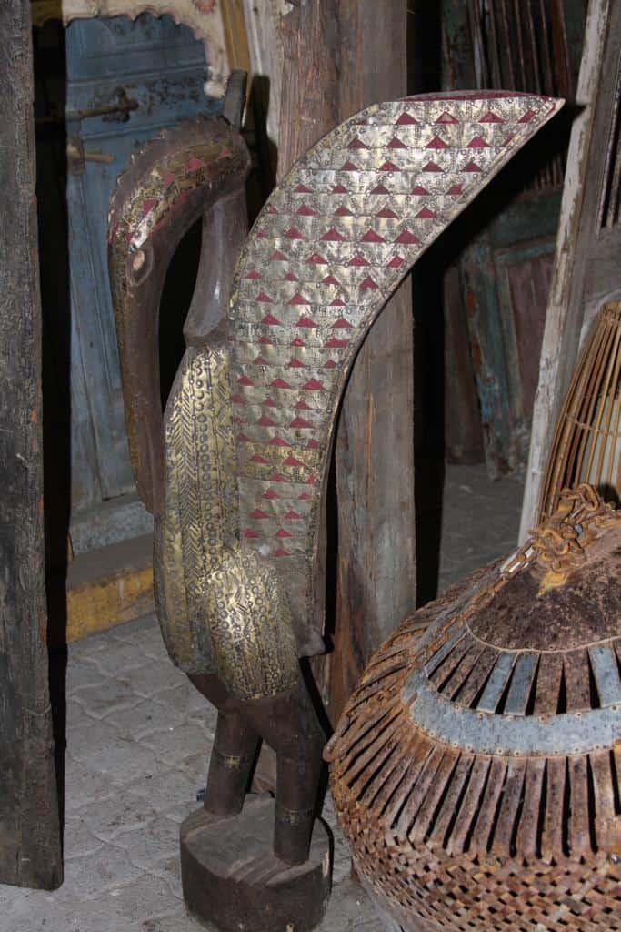 African Art Sculpture│Kalao (Hornbill) Senufo Bird 6