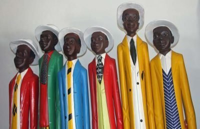 AFRICAN DECOR│COLONIAL WOOD FIGURES