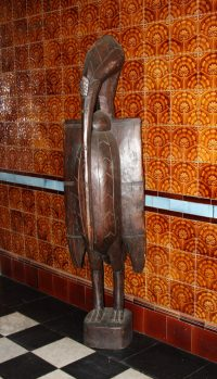 frican Decor, African Wood Carved Kalao Bird