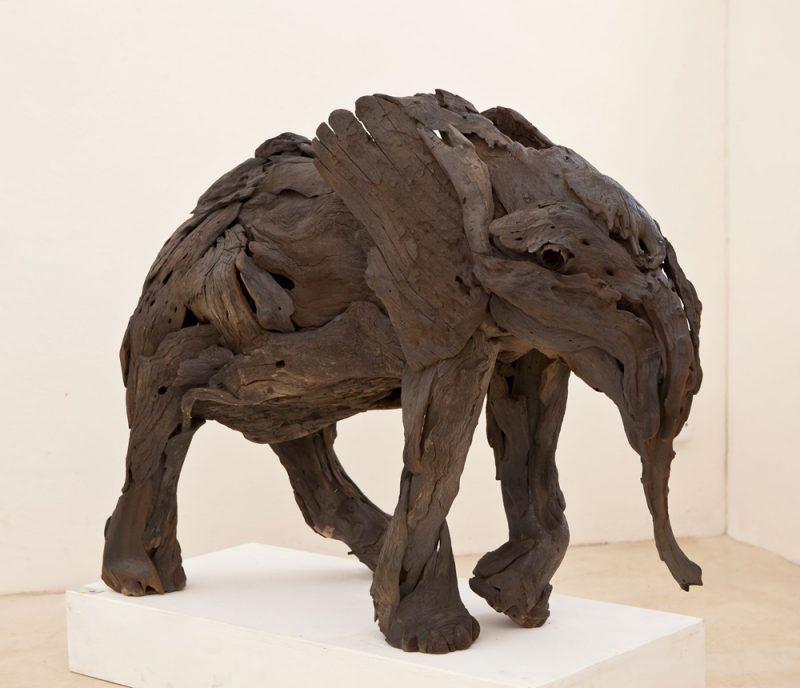 african art baby elephan sculpture