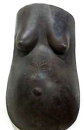 African Wall Art│Makonde Pregnant Body Mask 2
