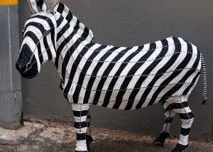 Wire Artworks, Wire Art South Africa, Wire Art Kids Room Decor, Animal Objects, Zebra