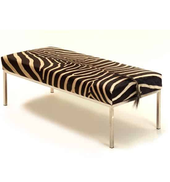 Zebra skin daybed bench phases africa african decor for African skin decoration