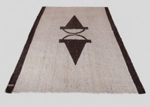 Wool Area Rug Hand-Weaved 4