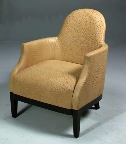 Genuine Ostrich Skin Library Chair 8