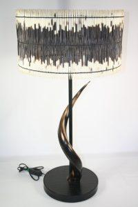 African decor│lighting│phases africaTable Lamp Drum Shade & Natural Polished Kudu Horn