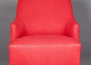 Genuine Ostrich Skin Lounge Chair
