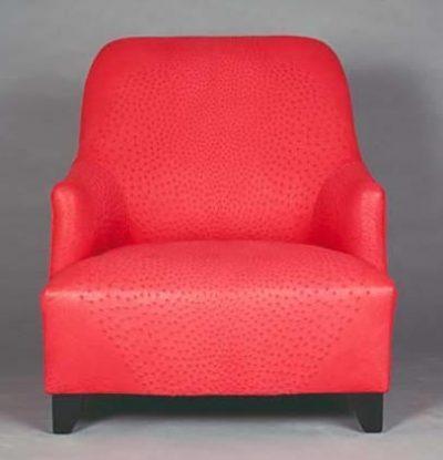 Genuine Ostrich Skin Lounge Chair