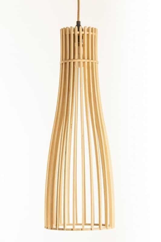 Wooden Pendant Light│Flute 210 14