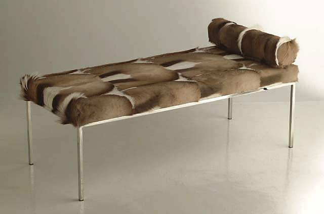 Springbok Skin and Stainless steel frame daybed/lounger