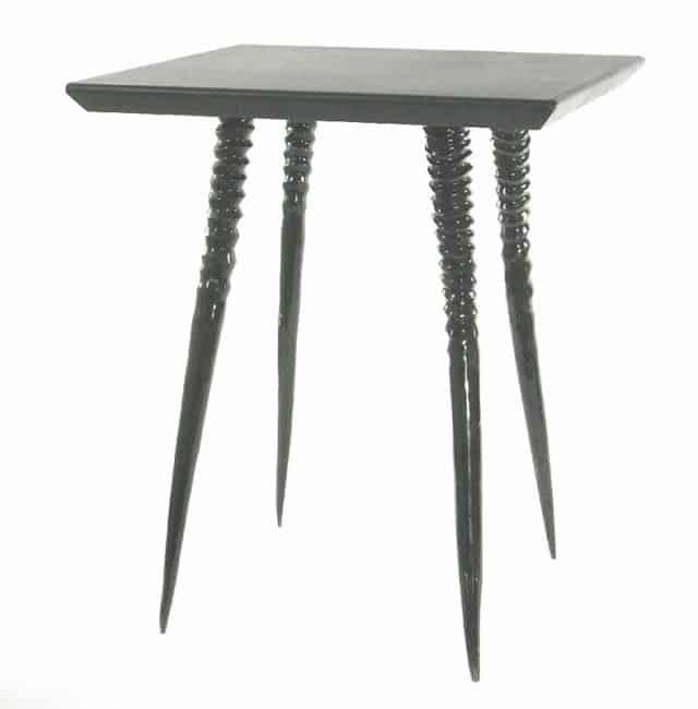 African Furniture -Mahogany wood and Gemsbok Leg Side Table