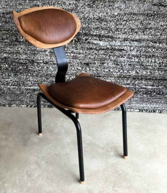 Leather & Wood Occasional Chair│Dining Room Chair 7