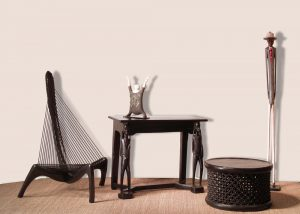 Wood Table│Rope Chair│African Decor 1