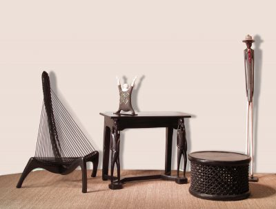 Wood Table│Rope Chair│African Decor 5