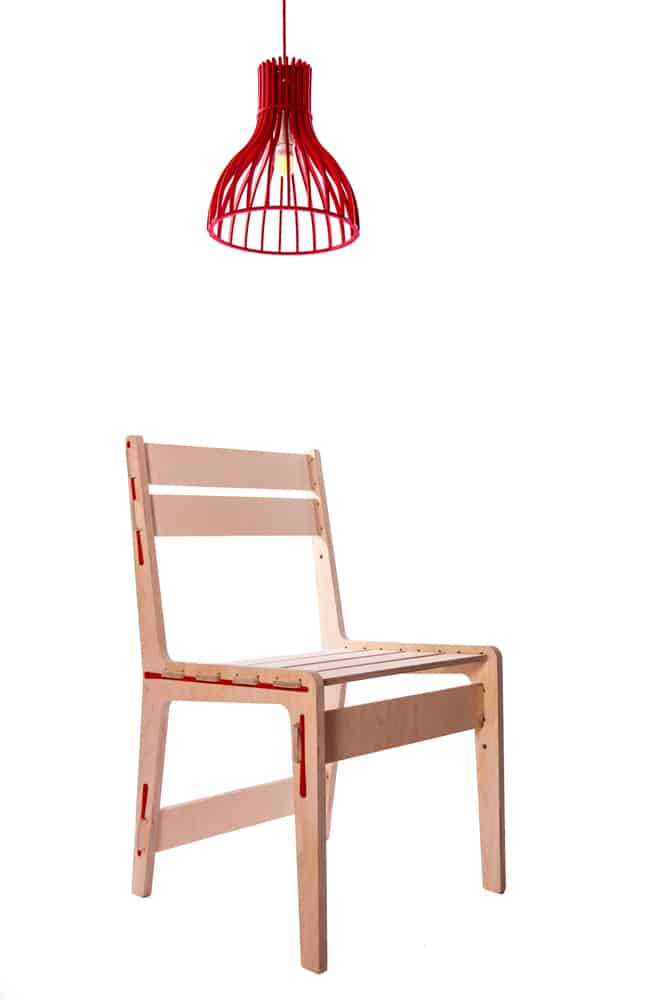 contemporary wooden chair