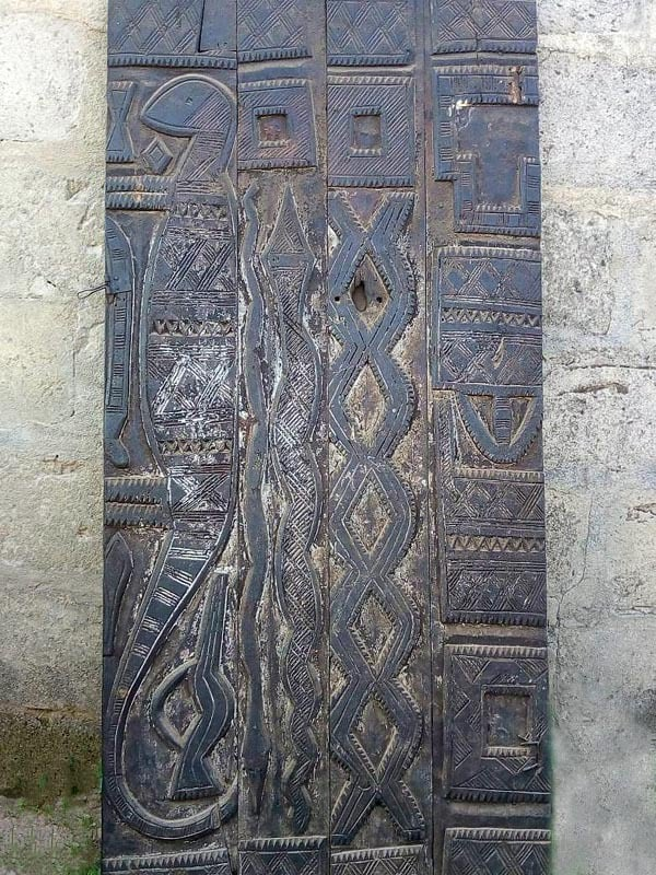 African Hand-carved Door