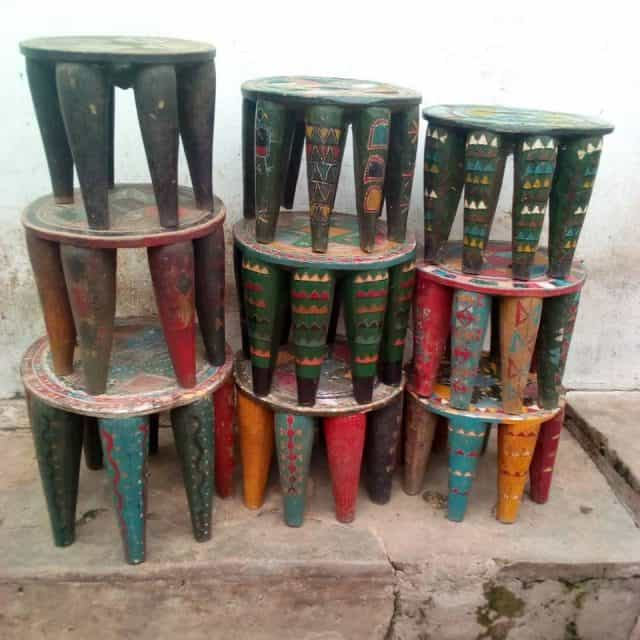 african decor│nupe stools