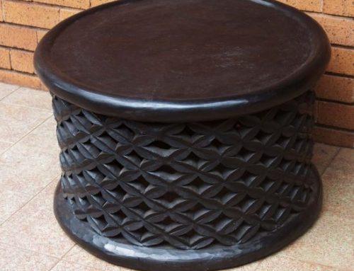 African Hand Carved Bamileke Wood Stool