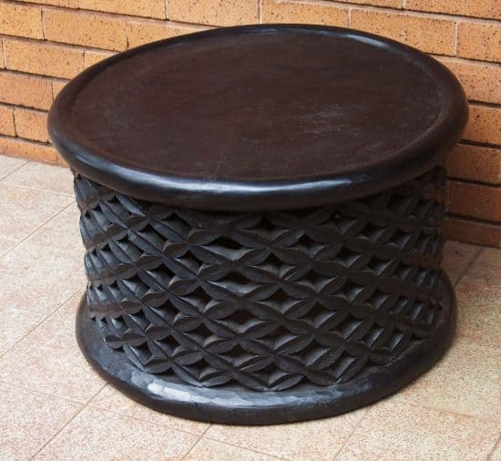 African Hand Carved Bamileke Wood Stool